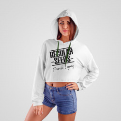 Crop Top Hoodie - Regulären Cannabissamen - Merch
