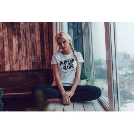 Regular Seed's Unisex White T-shirt - Semillas de marihuana regulares - Merch